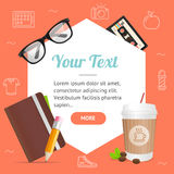 Hipster or Business Background Card. Vector Royalty Free Stock Image