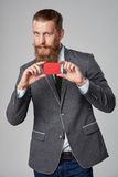 Hipster business man Stock Images
