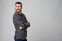 Hipster business man looking forward Stock Photography