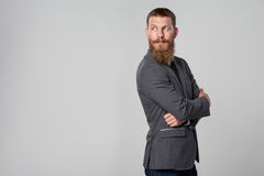 Hipster business man looking forward Stock Images