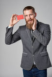 Hipster business man Royalty Free Stock Images