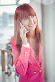 Hipster businesswoman having a phone call Royalty Free Stock Images