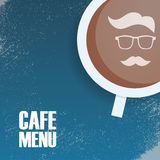 Hipster cafeteria menu template, vintage style Royalty Free Stock Images