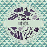 Hipster card with clothing and accessories Royalty Free Stock Images