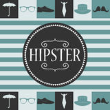 Hipster card design Royalty Free Stock Photography
