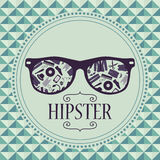 Hipster card glasses with clothing and accessories Royalty Free Stock Photo