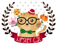 Hipster cat Royalty Free Stock Image