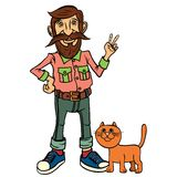 Hipster character design Royalty Free Stock Photos
