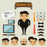 Hipster character elements for business man Stock Photo
