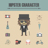Hipster character Stock Photos