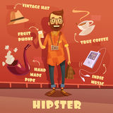 Hipster Character Illustration Royalty Free Stock Images