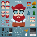 Hipster character illustration Stock Images