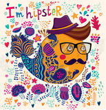 Hipster character illustration Stock Image