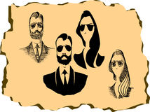 Hipster character Royalty Free Stock Images