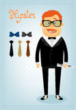 Hipster character pack for business man Royalty Free Stock Photos