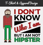 Hipster character and typography design Stock Image