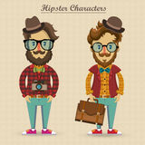 Hipster characters  illustration Royalty Free Stock Photos