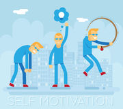 Hipster Characters Self Motivation Concept Urban Stock Image