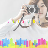 Hipster Chill Cityscape Urban Graphic Concept Royalty Free Stock Photo