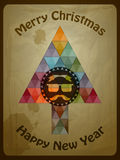 Hipster Christmas  Greeting Card Royalty Free Stock Image