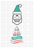 Hipster christmas vector with sarcastic message Royalty Free Stock Images