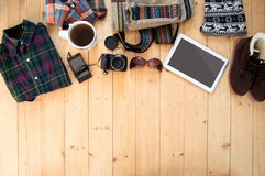 Hipster clothes and accessories Stock Photo