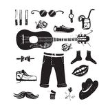 Hipster Clothing and Accessories Collection Royalty Free Stock Image
