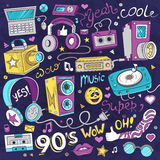 Hipster collage illustration. Royalty Free Stock Images
