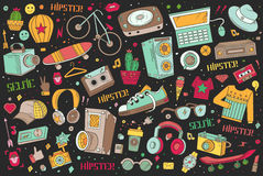 Hipster collage illustration. Stock Image