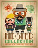 Hipster collection ,animal hipsters Stock Photo