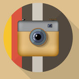 Hipster colorful realistic photo camera icon with Royalty Free Stock Photo
