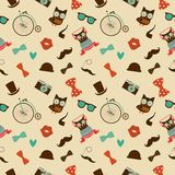 Hipster Colorful Seamless Pattern Stock Photography