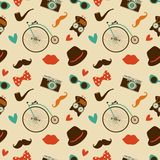 Hipster Colorful Seamless Pattern Royalty Free Stock Photos