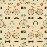 Hipster Colorful Seamless Pattern Royalty Free Stock Photography