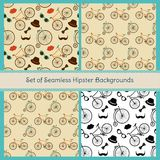 Hipster Colorful Seamless Patterns Royalty Free Stock Image