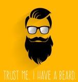 hipster Confie que eu mim tem uma barba Imagens de Stock