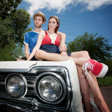 Hipster Couple Royalty Free Stock Images