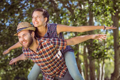 Hipster couple having fun together Royalty Free Stock Photo