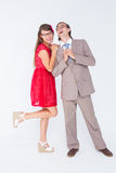 Hipster couple having fun together Royalty Free Stock Photography