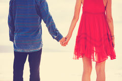 Hipster Couple Holding Hands Royalty Free Stock Photography