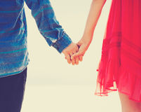 Hipster Couple Holding Hands Royalty Free Stock Photo