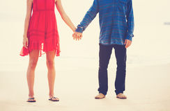 Hipster Couple Holding Hands Stock Image
