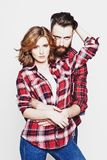 Hipster couple. Stock Images