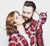 Hipster couple. Royalty Free Stock Image