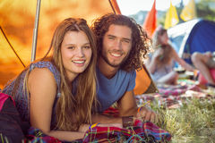 Hipster couple smiling at camera Royalty Free Stock Photography