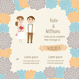 Hipster couples wedding invitation Royalty Free Stock Photography