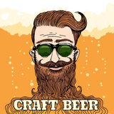 Hipster Craft Beer Theme Royalty Free Stock Photography