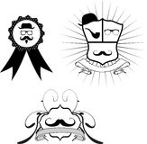 Hipster crest cartoon set3 Royalty Free Stock Image