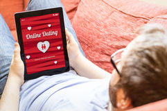 Hipster dating online Stock Images