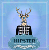 Hipster dear Stock Photo